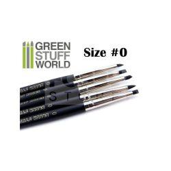 Green Stuff World Formázó szilikon ecset 0-ás méret-kemény (Colour Shapers Brushes SIZE 0 - BLACK FIRM)
