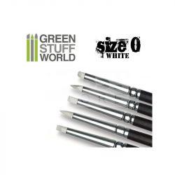 Green Stuff World Formázó szilikon ecset 0-ás méret-puha (Colour Shapers Brushes SIZE 0 - WHITE SOFT)