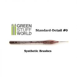 Green Stuff World Brushes Standard Detail 0 Synthetic (Szintetikus hobbi ecset 0)