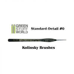 Green Stuff World Brushes Standard Detail 0 Natural Kolinsky (Természetes szőrű hobbi ecset Kolinsky 0)