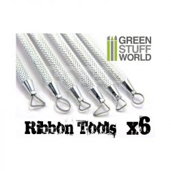 Green Stuff World 6 darabos formázó készlet (3x Mini Ribbon Sculpting Tools Set) 8436554362196ES