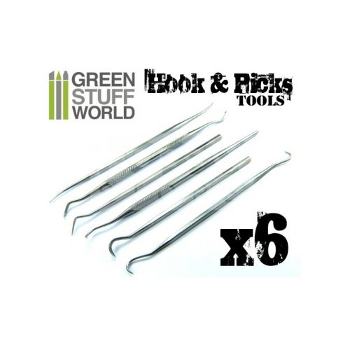 Green Stuff World 6 darabos formázó készlet (6x Hook and Pick tool Set)