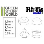 Green Stuff World Rubber molds - RIVETS formagumi (szegecs-csavar mintájú)