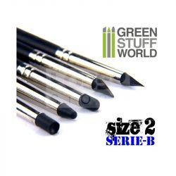 Green Stuff World Formázó szilikon ecset 2-es méret-kemény (Colour Shapers Brushes SIZE 2 - BLACK FIRM - SERIE-B)