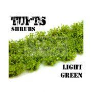 Green Stuff World SHRUBS TUFTS Realisztikus világoszöld színű cserjék-bokrok diorámához (6 mm self-adhesive - LIGHT GREEN)