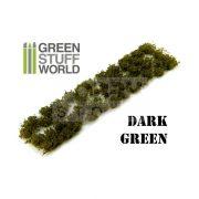 Green Stuff World SHRUBS TUFTS Realisztikus sötétzöld színű cserjék-bokrok diorámához (6 mm self-adhesive - DARK GREEN)