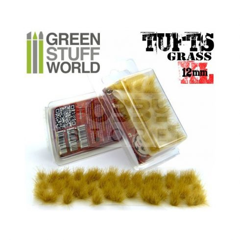 Green Stuff World Grass TUFTS XL Realisztikus Beige színű fűcsomók diorámához (12mm self-adhesive - BEIGE)