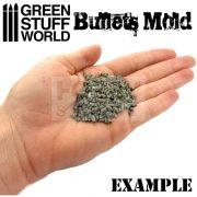 Green Stuff World Rubber molds - BULLETS formagumi (töltény formájú)