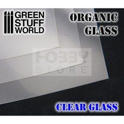 Green Stuff World Organic GLASS Sheet - Clear (20X30 cm méretű áttetsző lap üveg effekt eléréséhez 1 db)
