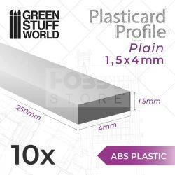 Green Stuff World ABS Plasticard - Profile PLAIN 4 mm (Lapos  ABS Plasztik profil 4 mm)