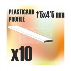 Green Stuff World ABS Plasticard - Profile PLAIN 4,5 mm (Lapos  ABS Plasztik profil 4,5 mm)