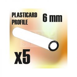 Green Stuff World ABS Plasticard - Profile TUBE 6 mm (ABS cső profil 6 mm)