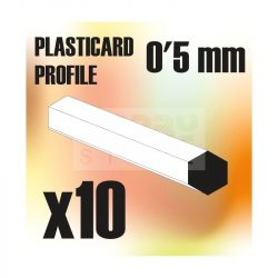 Green Stuff World ABS Plasticard - Profile Hexagonal ROD 0'5mm ( Hatszög ABS profil 0'5 mm)