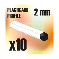 Green Stuff World ABS Plasticard - Profile Hexagonal ROD 2mm ( Hatszög ABS profil 2 mm)