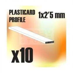 Green Stuff World ABS Plasticard - Profile PLAIN 2,5 mm (Lapos  ABS Plasztik profil 2,5 mm)