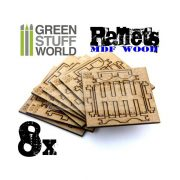 Green Stuff World Lézervágott MDF raklap diorámákhoz (8x Laser Cut PALLETS)