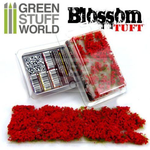 Green Stuff World BLOSSOM TUFTS Realisztikus piros színű virágcsomók diorámához (6 mm self-adhesive - RED Flowers)