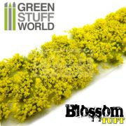Green Stuff World BLOSSOM TUFTS Realisztikus citromsárga színű virágcsomók diorámához (6 mm self-adhesive - YELLOW Flowers)