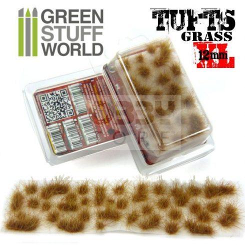 Green Stuff World Grass TUFTS XL Realisztikus Dry Brown színű fűcsomók diorámához (12mm self-adhesive - Dry Brown)