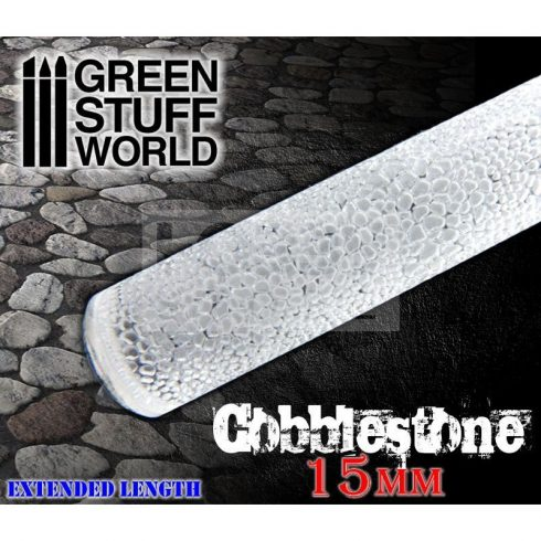 Green Stuff World ROLLING PIN COBBLESTONE textúrált formázó rúd 15mm (macskakő mintájú)
