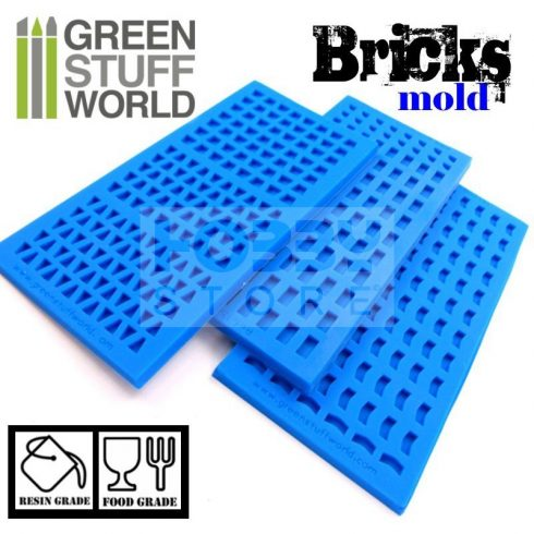 Green Stuff World Silicone molds - BRICKS szilikon formagumi (tégla mintájú)