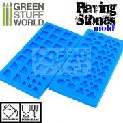 Green Stuff World Silicone molds - PAVING STONES szilikon formagumi (járda-térkő mintájú)