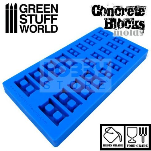 Green Stuff World Silicone molds - Concrete Bricks szilikon formagumi (Betontégla mintájú)
