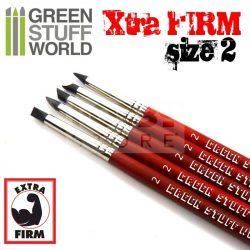 Green Stuff World Formázó szilikon ecset 2-es méret-extra kemény (Colour Shapers Brushes SIZE 2 - EXTRA FIRM)