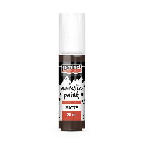 Pentart Matt sötétbarna színű akrilfesték - hobbi festék 20 ml 87