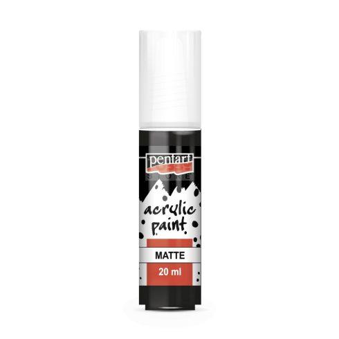 Pentart Matt fekete színű akrilfesték - hobbi festék 20 ml 92