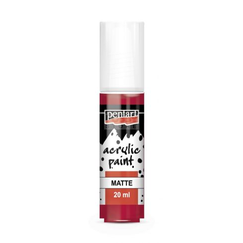 Pentart Matt kárminpiros színű akril bázisú hobbi festék 20 ml 94