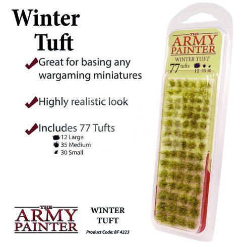 The Army Painter Realisztikus WINTER TUFT- téli fűcsomók diorámához 77 darab BF4223