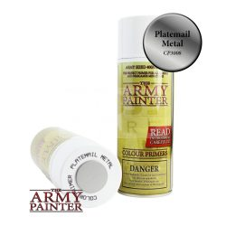 The Army Painter Colour Primer - Plate Mail Metal alapozó Spray CP3008