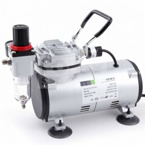 Fengda Mini airbrush compressor- Mini csendes - egyhengeres airbrush kompresszor FD-18-2