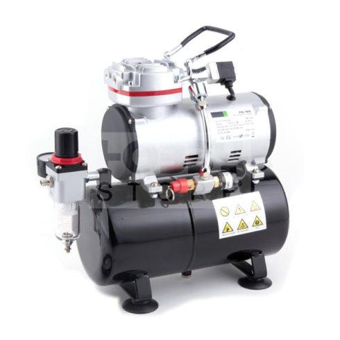 Fengda Airbrush mini compressor with air reservoir- Mini csendes - egyhengeres levegőtartályos (3L) airbrush kompresszor FD-189