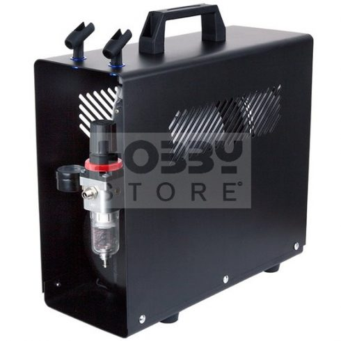 Fengda Airbrush mini compressor with air reservoir- Mini csendes - kéthengeres levegőtartályos (3.5L) airbrush kompresszor FD-196A