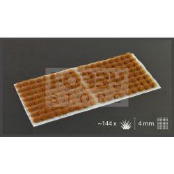 Gamers Grass TUFTS Realisztikus Brown-Barna színű fűcsomók diorámához-Small 144 darab (4 mm self-adhesive - Brown)