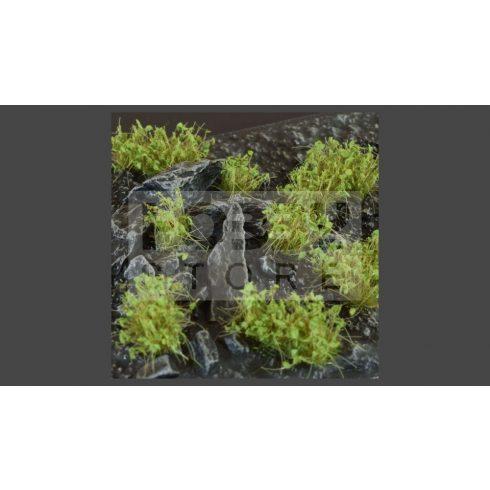 GAMERS GRASS SHRUBS TUFTS Dark Green - Realisztikus sötétzöld színű cserjék-bokrok diorámához (4-6 mm self-adhesive - DARK GREEN)