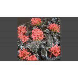 GAMERS GRASS BLOSSOM TUFTS Realisztikus piros színű virágcsomók diorámához (4-6 mm self-adhesive - Red Flowers)