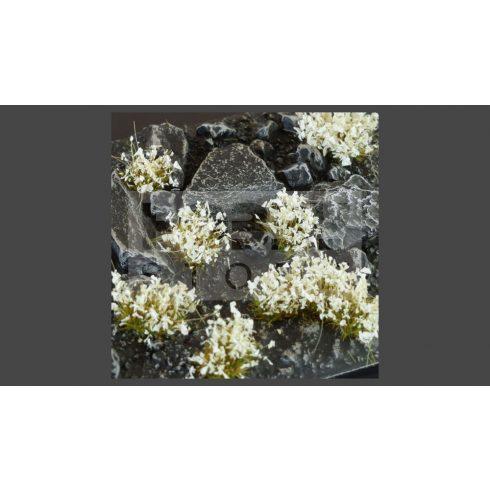 GAMERS GRASS BLOSSOM TUFTS Realisztikus fehér színű virágcsomók diorámához (4-6 mm self-adhesive - White Flowers)