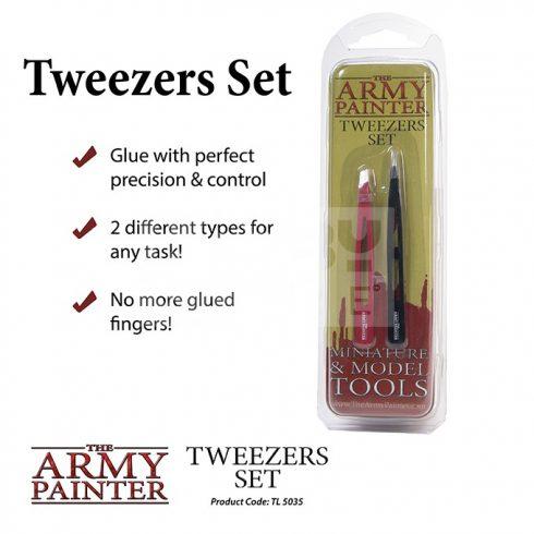 The Army Painter precíziós csipeszkészlet (Tweezers Set) TL5035