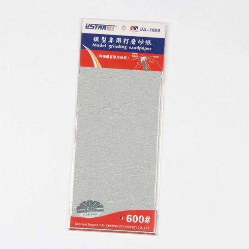 U-STAR 600-as finomságú öntapadós csiszolópapír (Self-Adhesive Abrasive Paper Kit 4 in 1 #600) UA91609