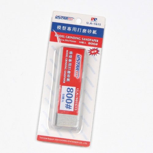 U-STAR 800-as finomságú csiszolópapír szett Mini Abrasive Paper Kit (50 in 1  #800) UA91615