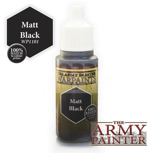 The Army Painter Matt Black 17 ml-es akrilfesték WP1101