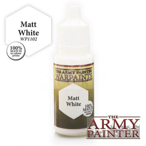 The Army Painter Matt White 17 ml-es akrilfesték WP1102